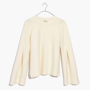 Madewell long sleeve blouse (cream)